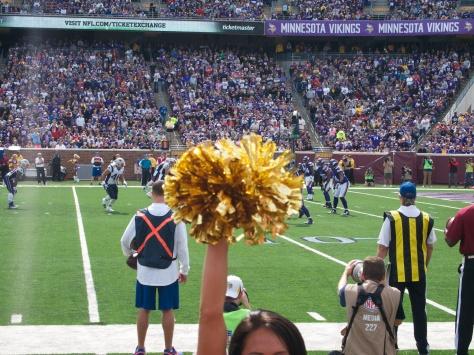 Cheerleader blocks my view