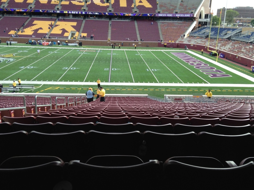TCF Stadium after the game